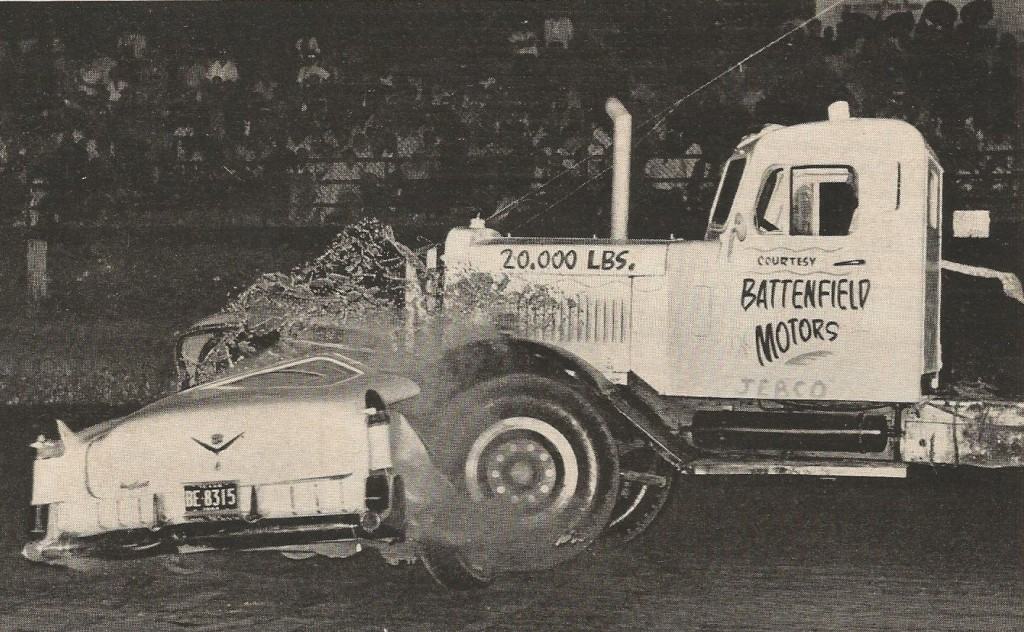 SMASH: The Story Of The Neatest Photo You'll See Anywhere Today – Big Rig Killing Classic Caddy!