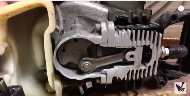 Sawing A Weed Wacker Engine In Half With A 60,000 PSI Water Jet Is Awesome