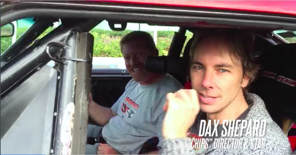 Watch Dax Shepard, Star Of The New CHiPs Movie Make Some Lot Laps In The Big Red Camaro