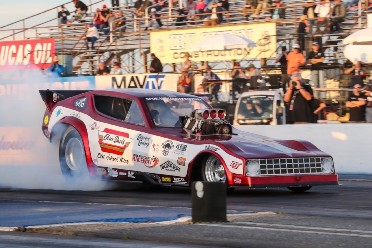 Funny Cars! The Plastic Fantastics In Action At The 2017 Good Vibrations March Meet!