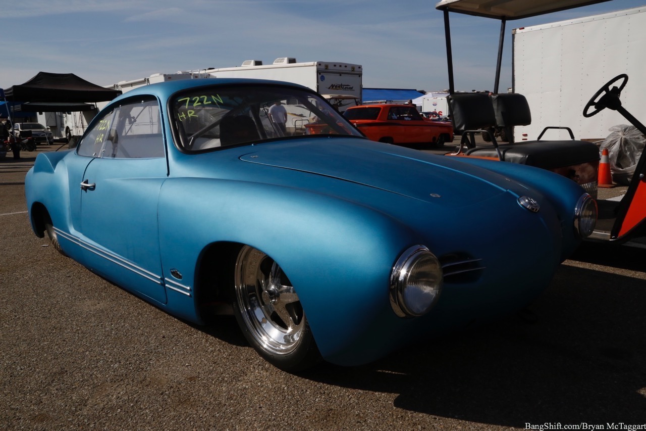 2017 Good Vibrations March Meet Feature: This 1957 Volkswagen Karmann Ghia Was One Of The Baddest Of The Hot VWs At The Track!