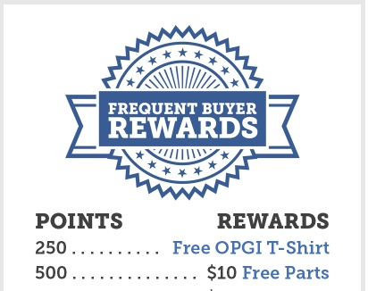 Did You Know About OPGI's Frequent Buyer Rewards Program? You Buy and Earn Free Stuff!