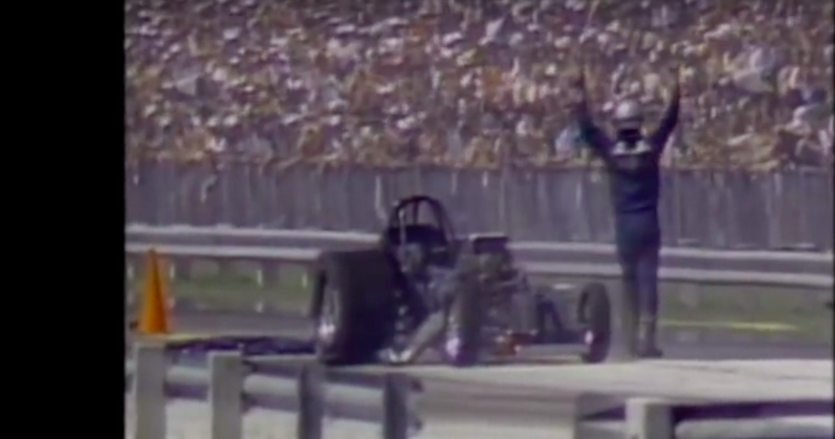 Watch The Wild Ride Of Raymond Beadle From The 1982 NHRA Gatornationals – Crowd Goes NUTS!