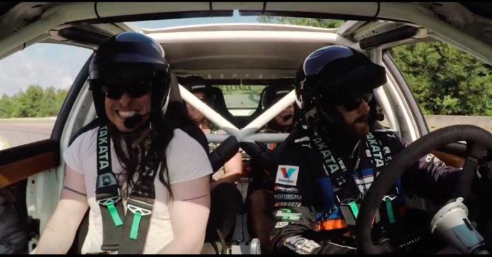 Party Hard: Shoving Andrew W.K. And His Friends In A Drift Infiniti Is A Great Idea!