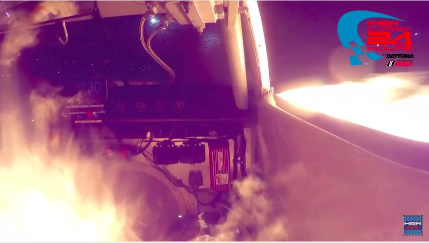 Watch A Greenwood Corvette Lose An Engine In Flaming Fashion On The Banks Of Daytona!