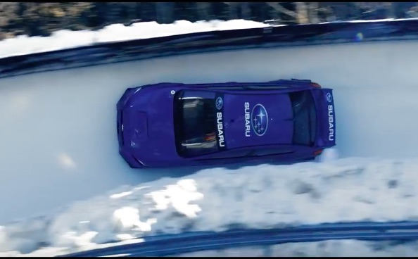 Challenge Accepted: Watch Mark Higgins Pilot A Subaru Rally Car Down A Bobsled Course!