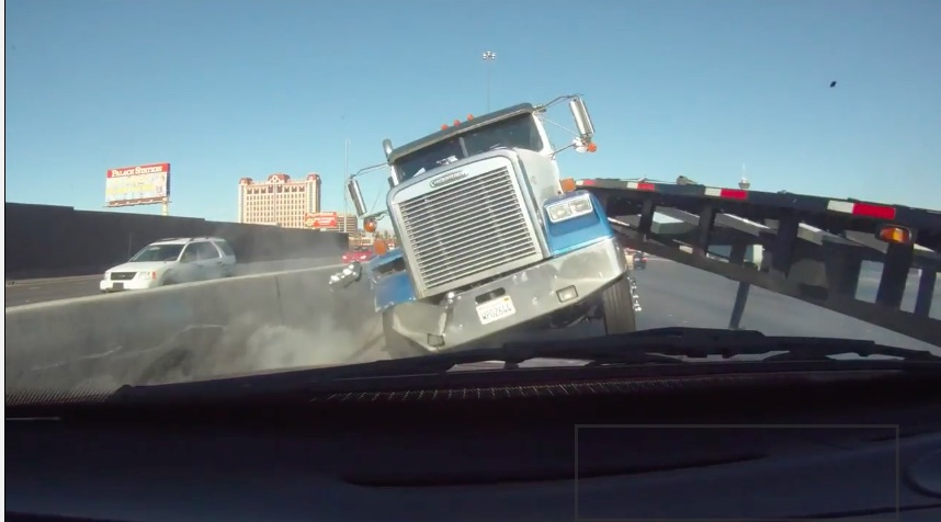 Crazy Close Call Video: You Don't Get Any Nearer To Being Wiped Out By A Big Truck Than This!