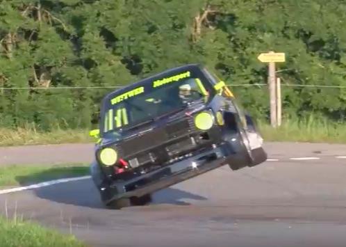 Run, Rabbit, Run! Watch As This VW Golf Monsters Hillclimbs At Full Chat!
