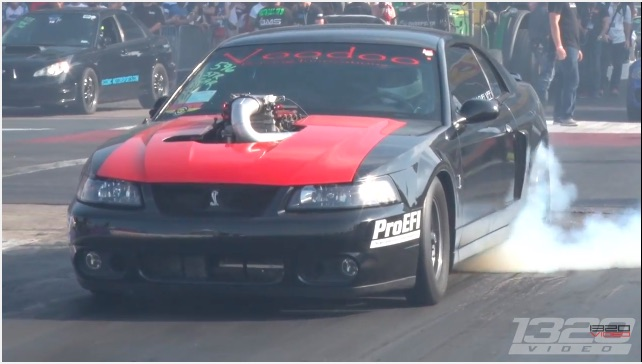 Big Turbo On A Mod Motor Means That This Cobra Mustang Will Maul On The Strip!