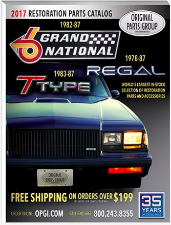 OPGI Is Taking Pre-Orders For Their Upcoming 1982-87 Buick Grand National, T-Type, and Regal Catalog!