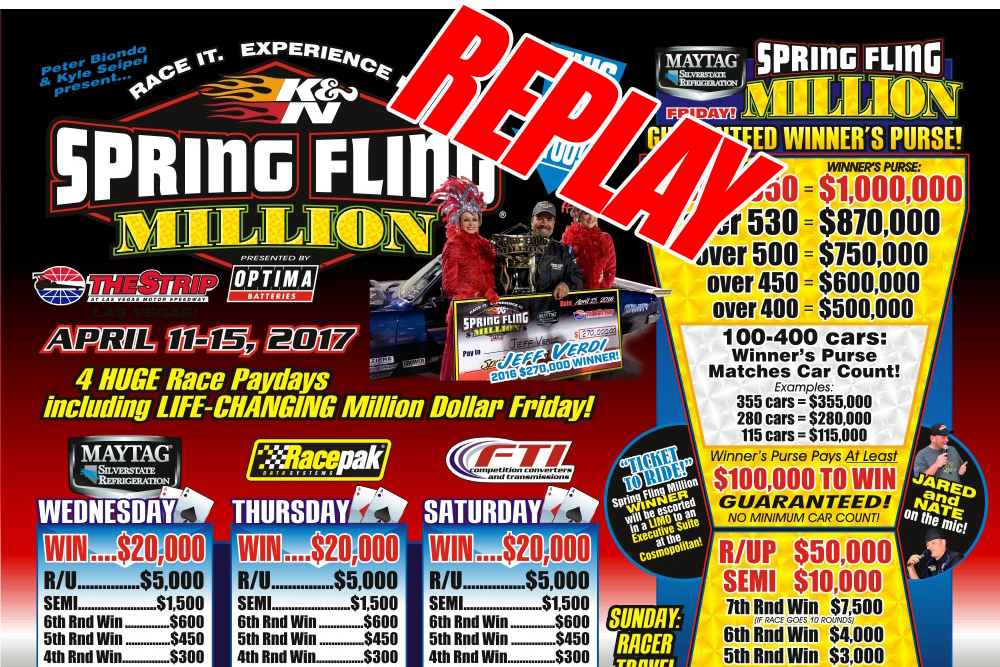 FREE VIDEO REPLAY: The Spring Fling Million In Las Vegas!