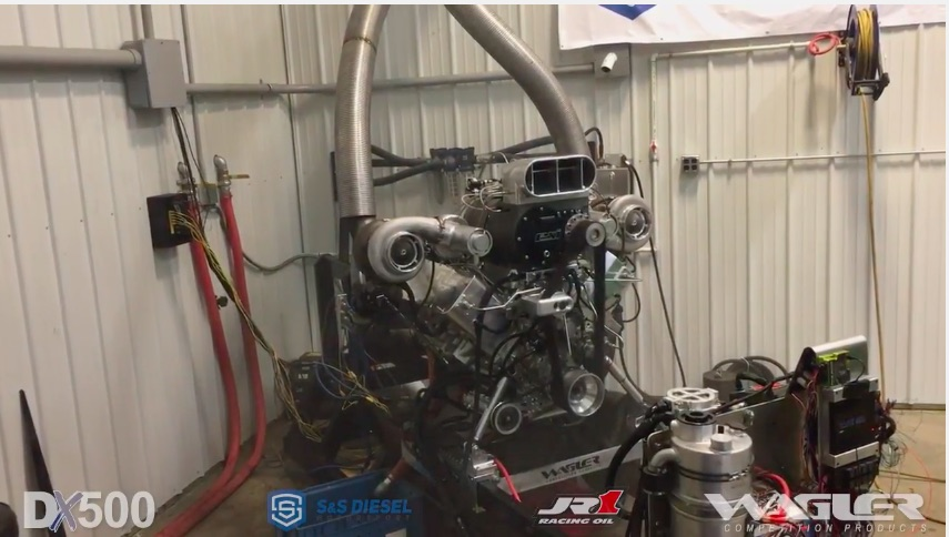 Watch The Insane Wagler DX500 All-Billet Turbocharged and Screw Blown Duramax Max Its Initial Dyno Rip