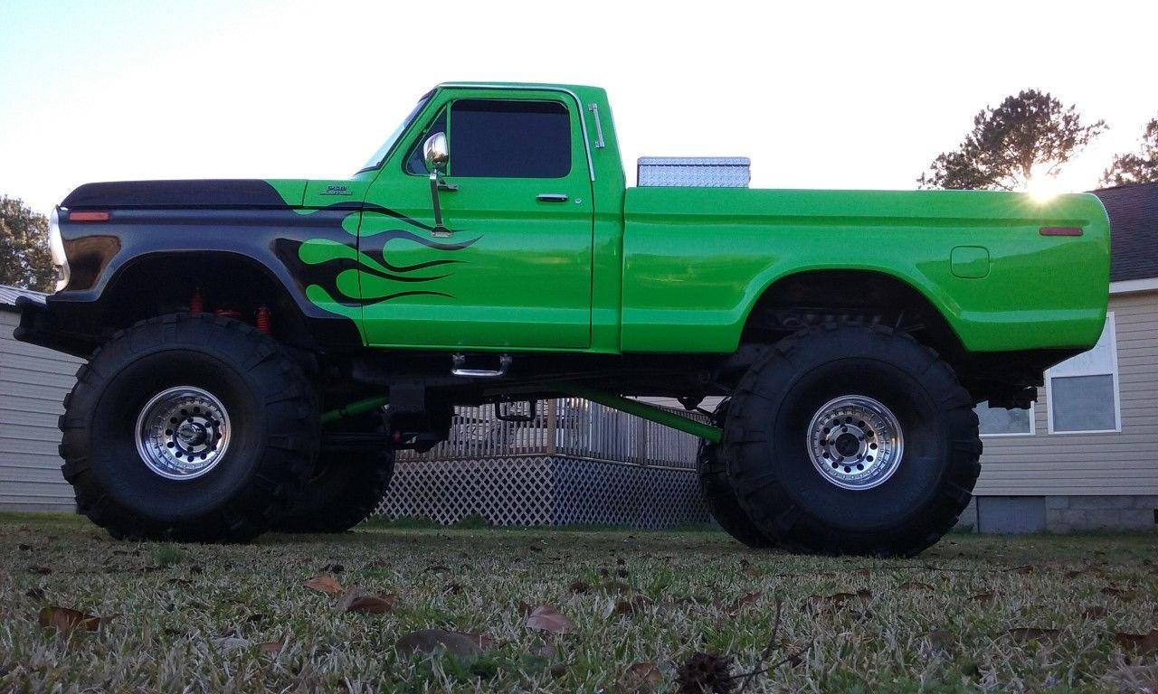 "Monster Truck Tires >> BangShift.com 1978 Ford F-150 monster truck on 44"" super swamper tires"