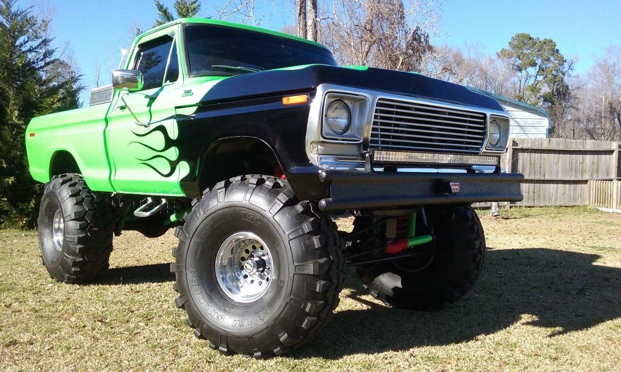 1978 ford f 150 monster truck on 44 super swamper tires. Black Bedroom Furniture Sets. Home Design Ideas