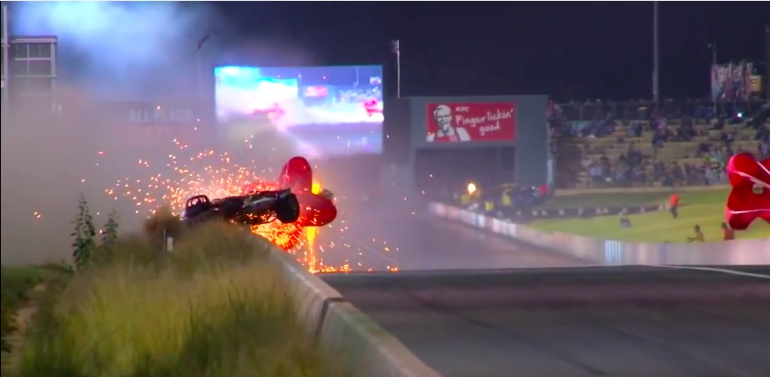Crazy Video: Watch This Aussie Jet Dragster Pilot Daniel Miocevich Wreck At 270mph and Walk Away