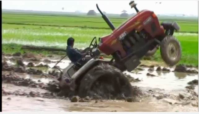 Halfway To China: This Is How To Get A Tractor Stuck!