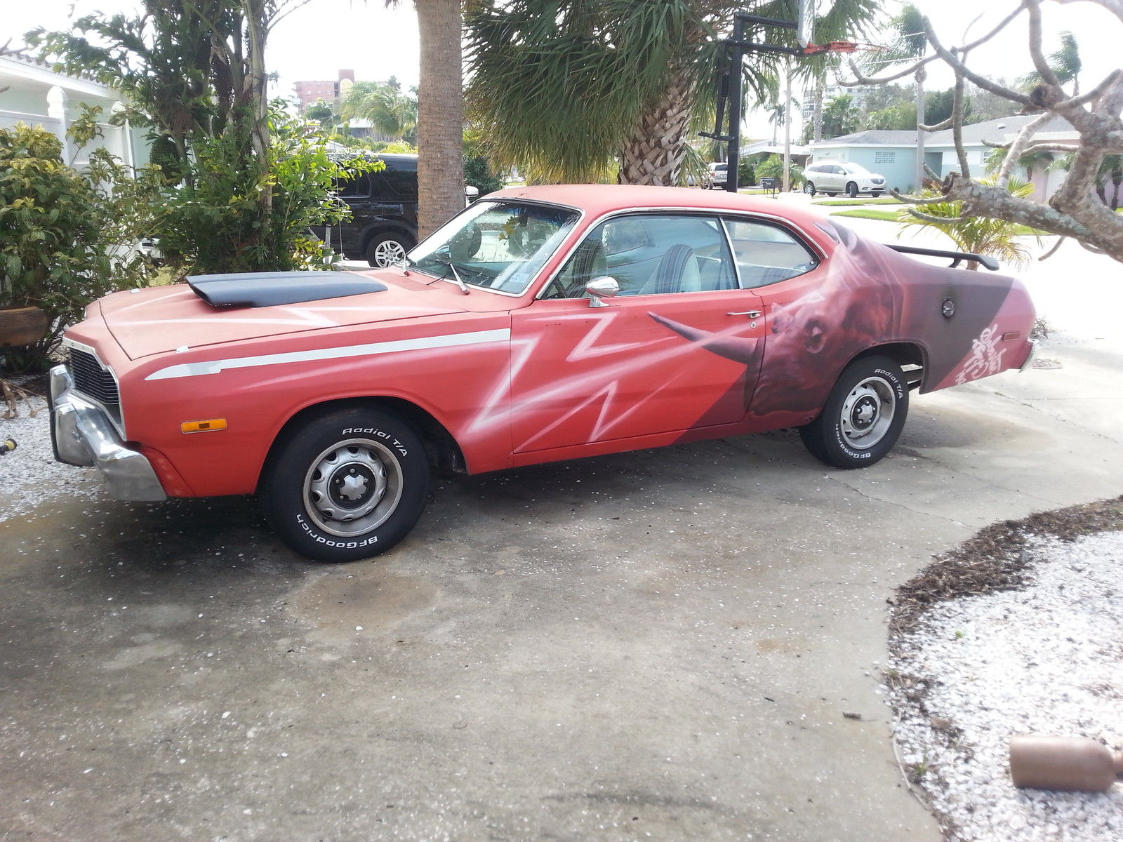 Ever Seen A 1975 Hang Rhino Duster? Heck, Ever Seen A Rhino Painted On A Car?