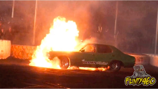 This Collection Of Australian Burnout Carnage Has It All: Fire, Wrecked Metal, And Dead Engines!