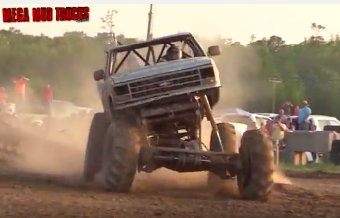 Jumpin' Jehosaphat! Watch These Two Mega Trucks Catch Destructive Amounts Of Air – WOW!