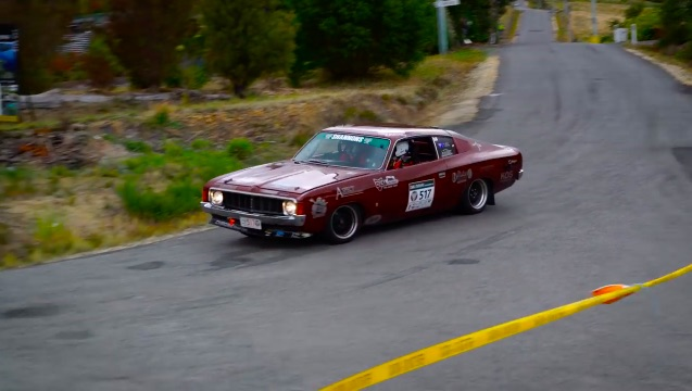 Morning Symphony: A Chrysler Valiant Charger E48 Unleashed At Targa Tasmania
