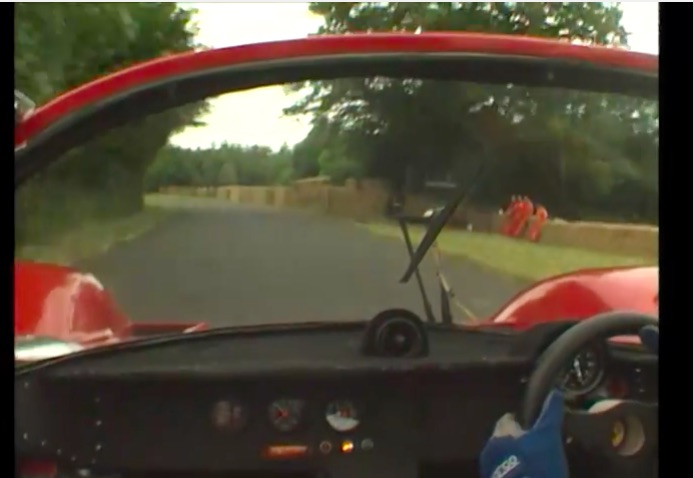 Ride With Nick Mason of Pink Floyd As He Races His Classic Ferrari 512 Up Goodwood!
