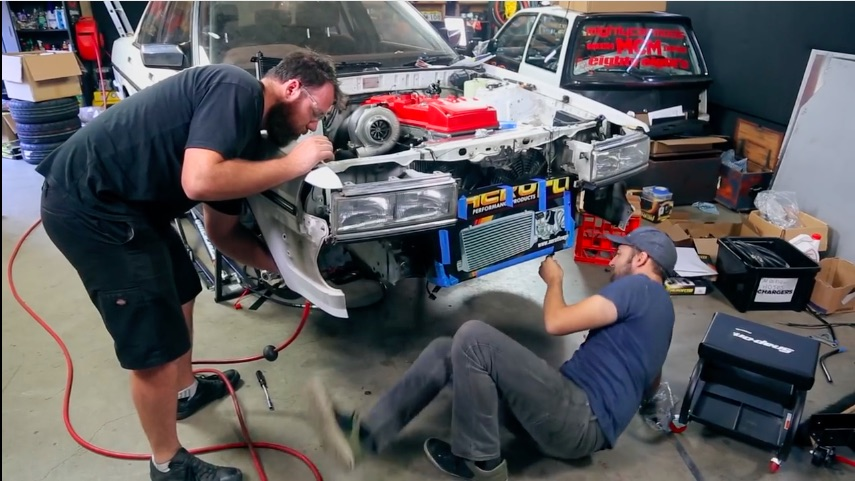 Mighty Car Mods Go For The Tens By Swapping A Turbo Barra Six Into A Toyota Sedan!