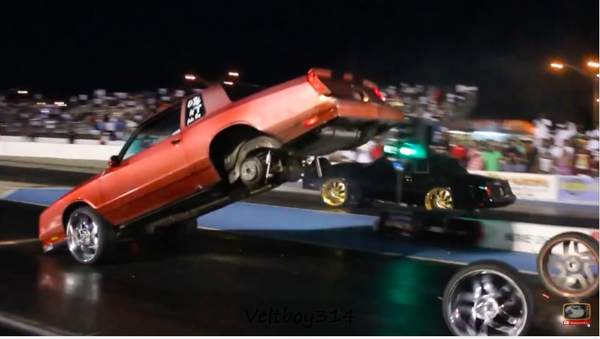 Watch This Huge-Wheel Equipped Monte Carlo Shear The Wheel Studs And Get Crazy!