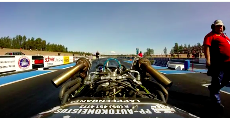 Wild Ride: Watch This Driver Keep His Twin Turbo 292 Y-Block Powered Altered Off The Wall