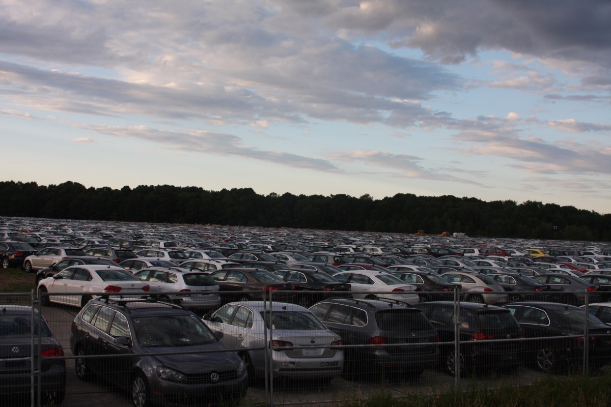 We Found A Volkswagen TDI Recall Regional Holding Facility At An Old Naval Air Base In Southeastern Massachusetts