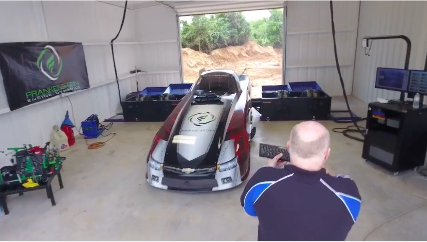 This Video Of The Imperial Construction NHRA Alcohol Funny Car Making A Hub Dyno Pull Is Awesome