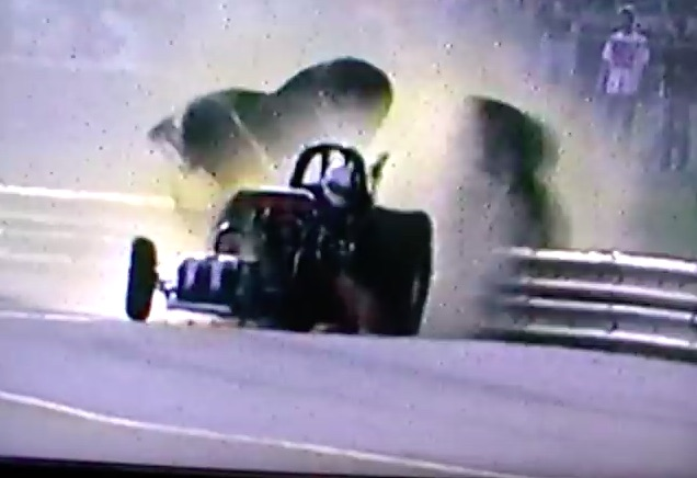 Watch The Insane Norm Wilding Funny Car Crash From The 1995 NHRA Gatornationals