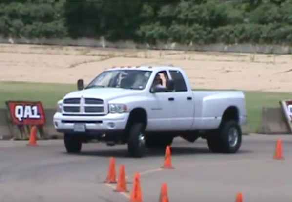 Classic YouTube: Autocrossing A Cummins Ram, Because Physics Doesn't Matter!