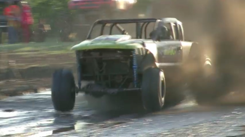 Video: Watch This Nasty, Twin-Turbocharged Mud Bogger Exit The Pit Violently Stage Left!