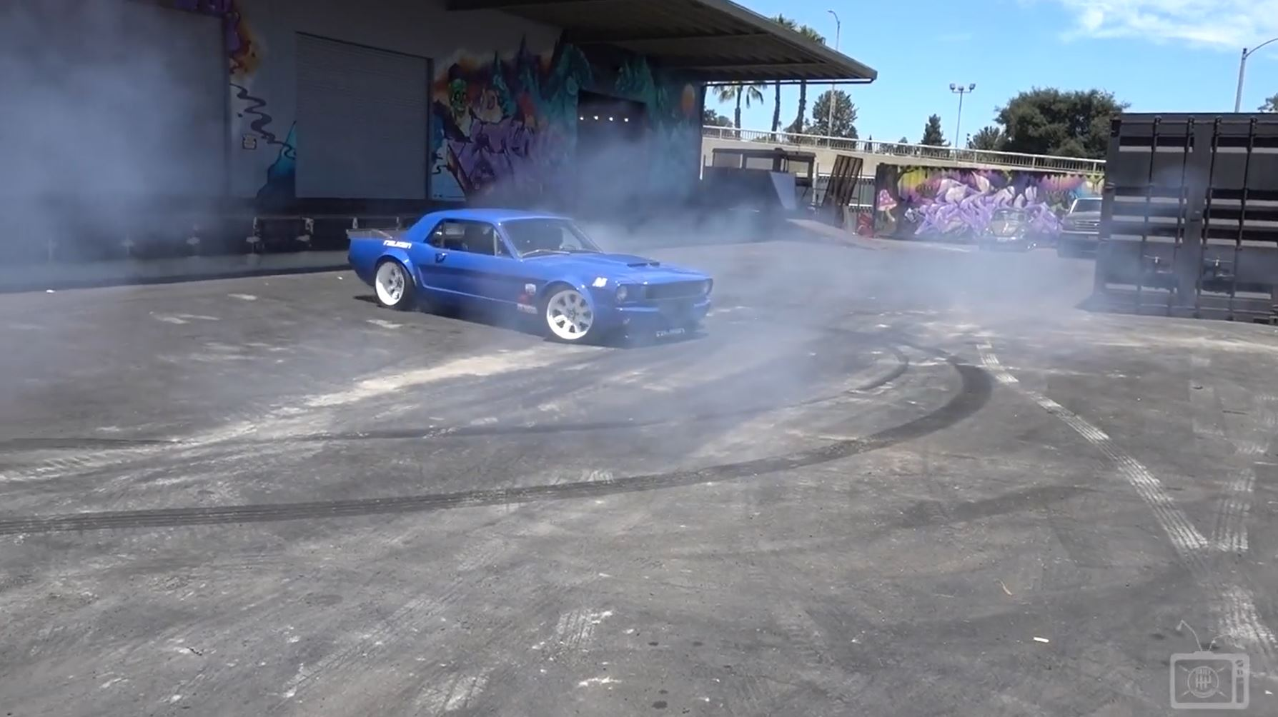 Our Boy Mike Maier Shows The Hoonigan Boys How Wife Brianne's Mustang Can Destroy A Pair Of Falkens