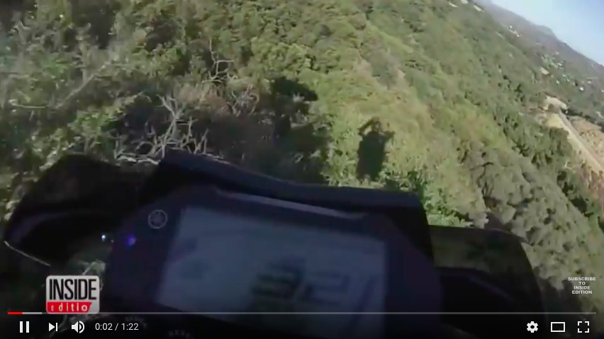 Crazy Video: Ride Along As A Bike Hurtles 250ft Off A Cliff And Meet The Rider Who Survived It!