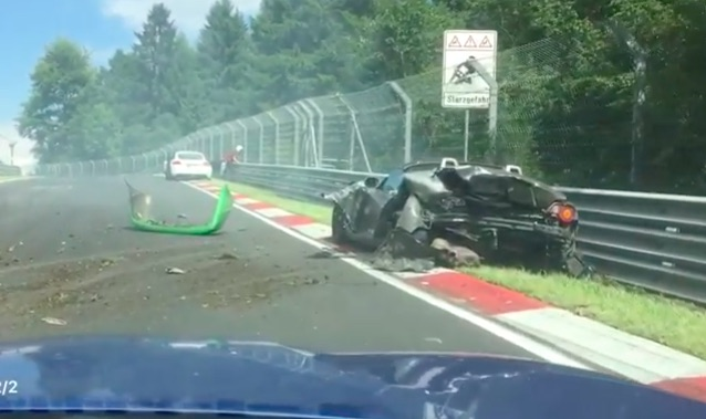 In-Car Video: Watch This Wild 10-Car Crash On The Nurburgring Caused By Oil On The Track