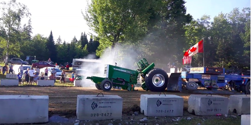 Rough Video: Watch This Oliver Tractor Break In Half During A Pull!
