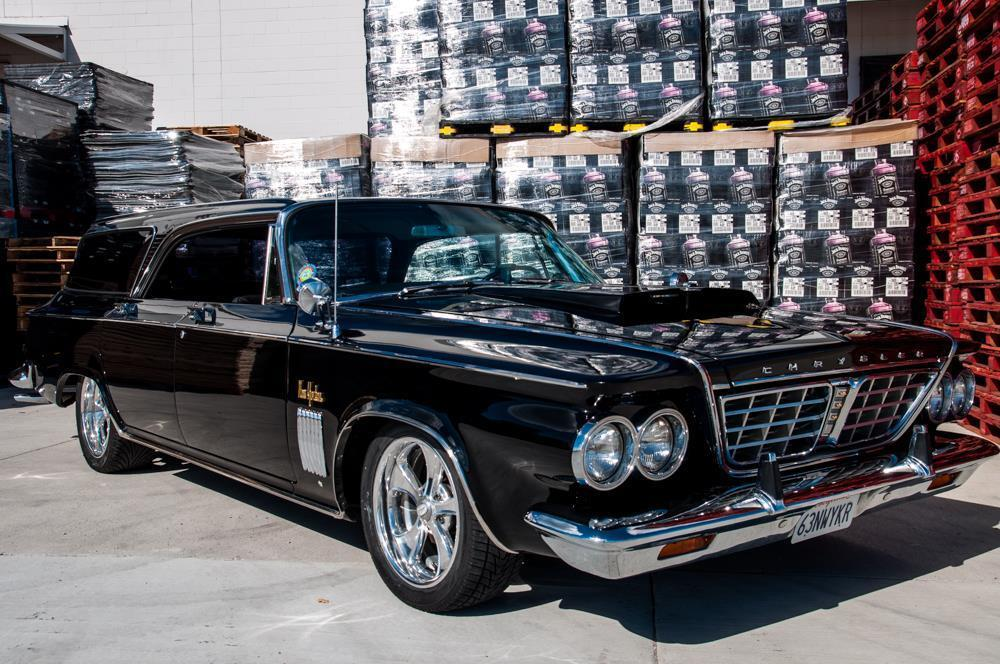 Bonneville Push Car Perfection? This 1963 New Yorker Station Wagon Rules and It Has A Cross Ram, 426ci Max Wedge Engine!