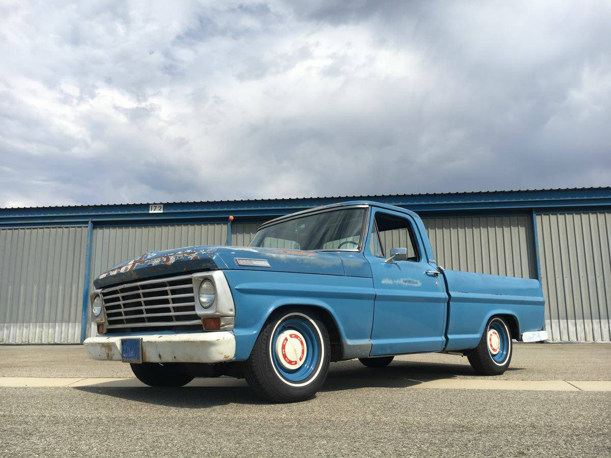 This 1967 ford f 100 is patinad shop truck perfection don