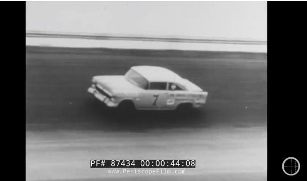 This 1956 Chevrolet NASCAR Promotional Film Rules – Daytona, Darlington, Dirt, and Asphalt