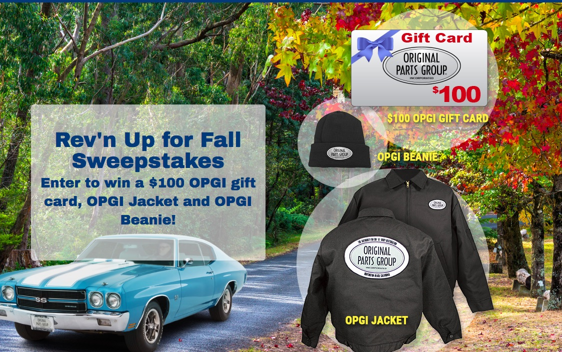 Want To Win Free Stuff? Sign Up For The OPGI Rev'n Up For Fall Sweepstakes