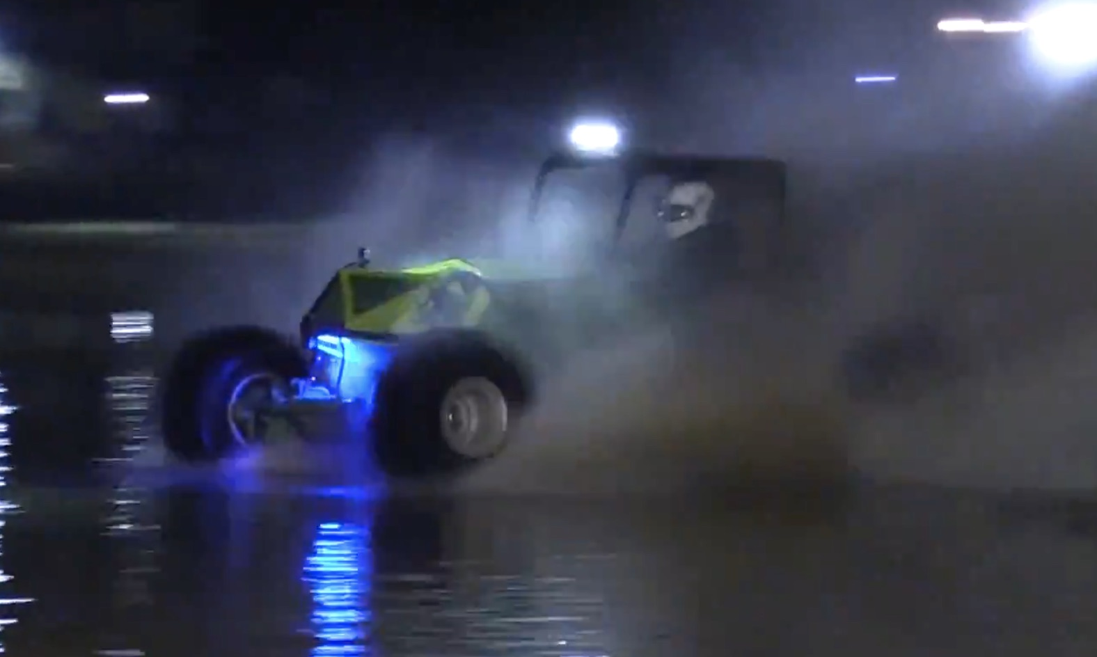 Skipping On The Water At Night: Formula Offroad Showing Off In Tennessee!
