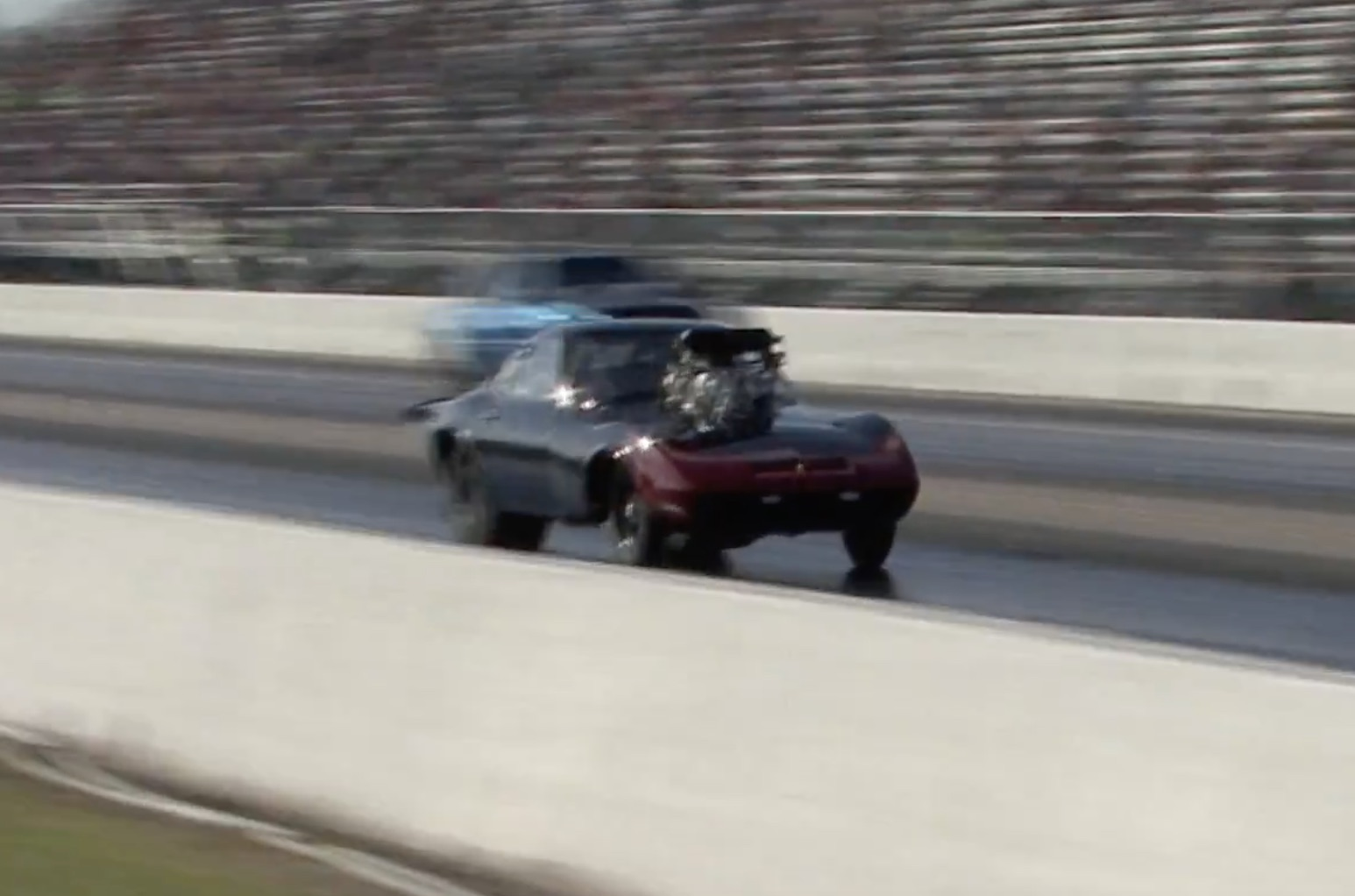 A Tiny Bit Of Violence: Troy Scott's Opel GT Was Tearing It Up At The Throwdown In T-Town!