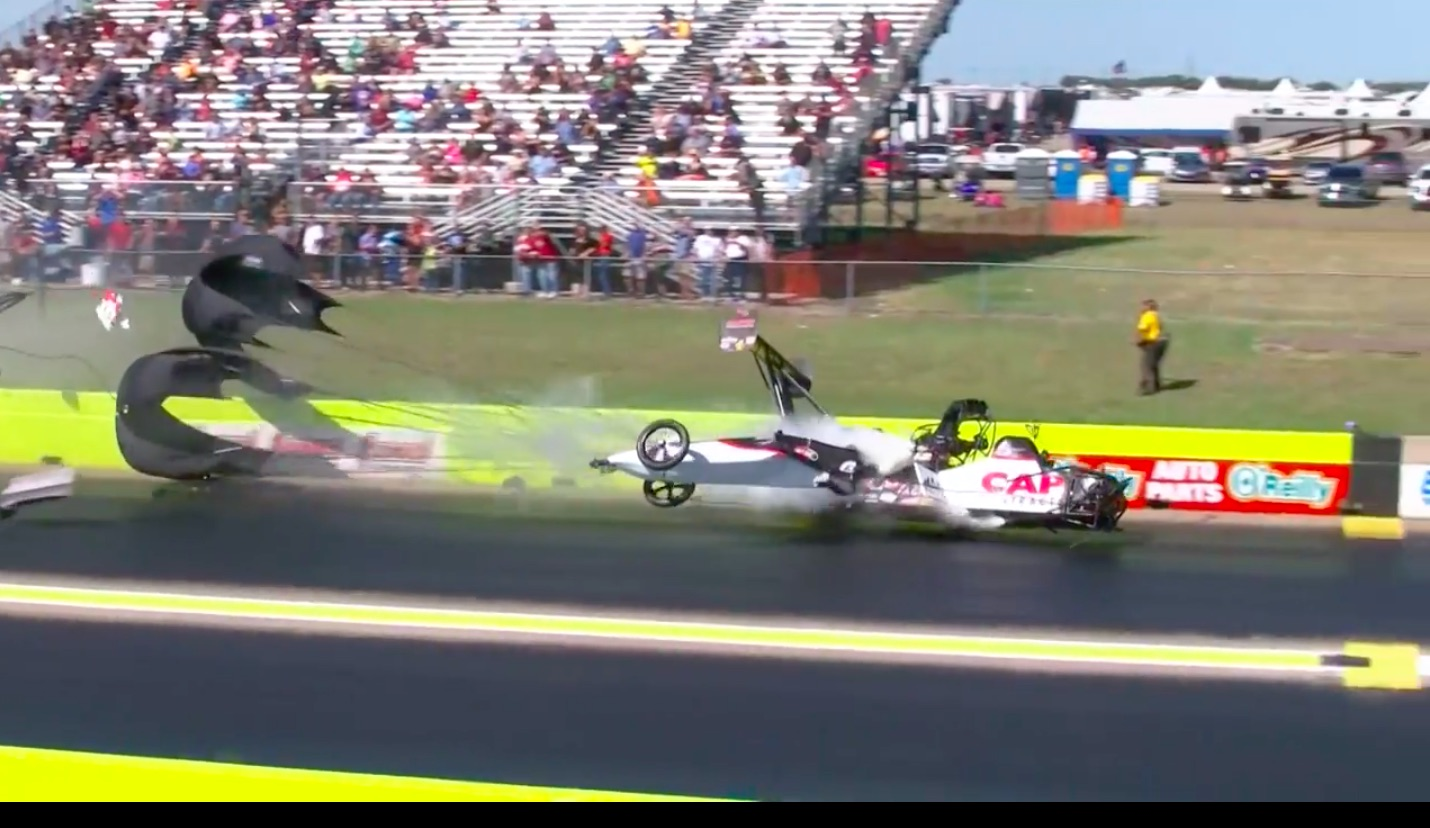 Watch Steve Torrance Wak Away Unscathed From A Horrendous NHRA Top Fuel Wreck In Dallas