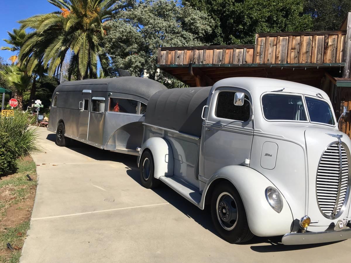 BangShift.com A 1939 Ford COE Truck And Matching Curtiss Aerocar Land Yacht Make A Bitchin Pair
