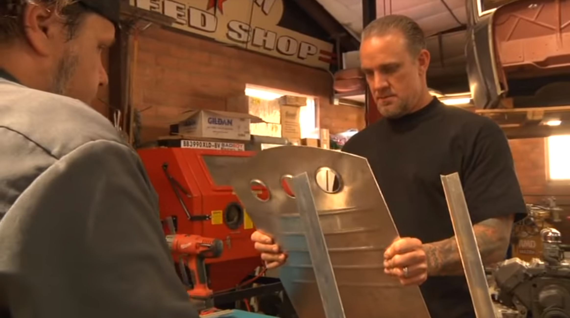 Jesse James Shows Just How A Bitchin Aluminum Bomber Seat Is Made