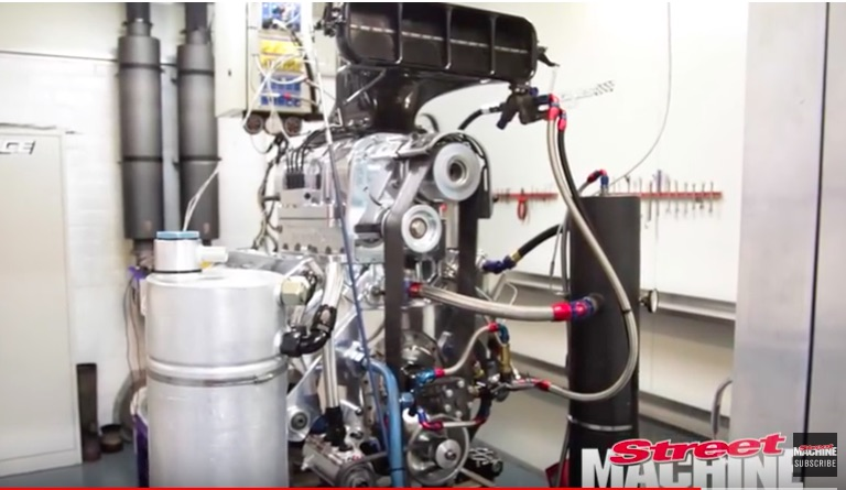 Watch This Big Block Chevy Make 1438hp and The Get Run Through The Burnout Simulation!