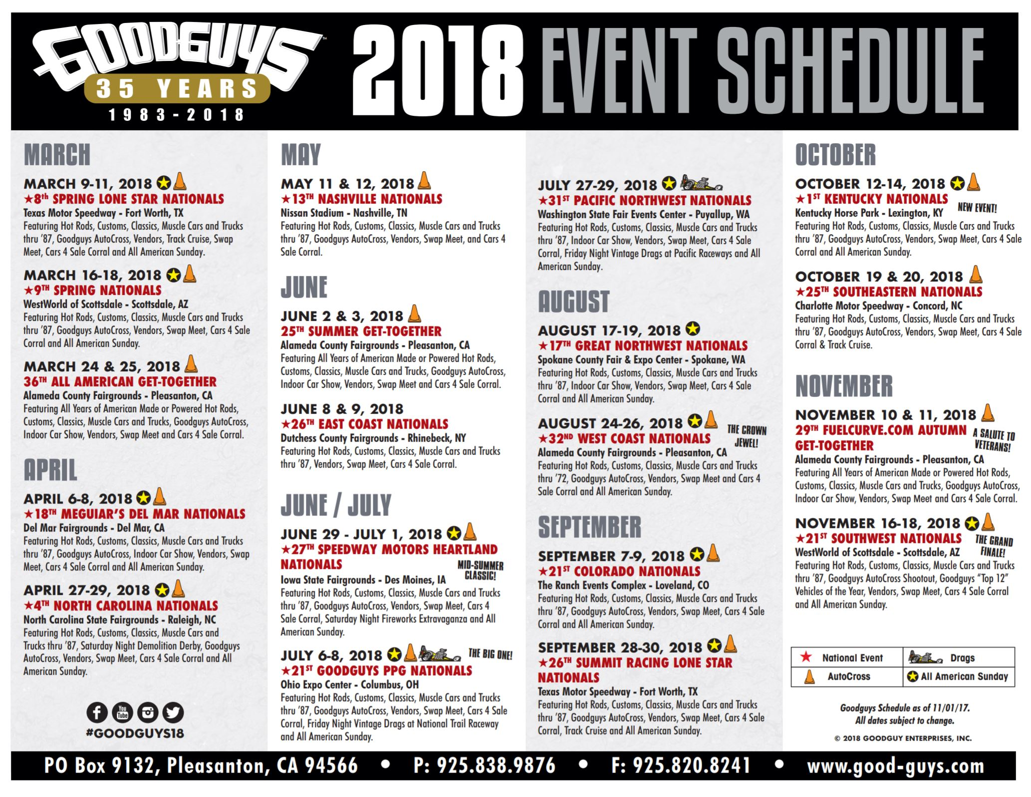 BangShiftcom Goodguys Announces Schedule And New Goodguys - Good guys car show rules