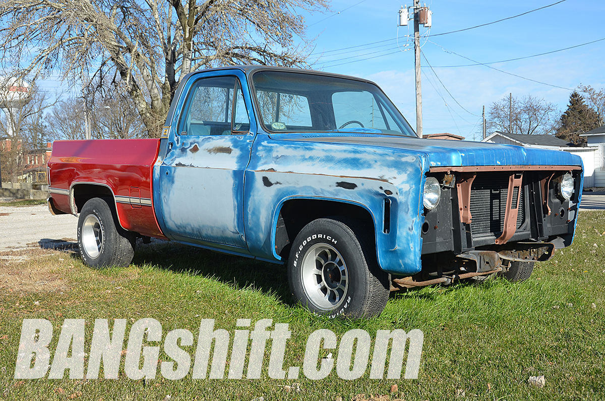 this solid beater square body chevy could be hot rod sleeper greatness. Black Bedroom Furniture Sets. Home Design Ideas