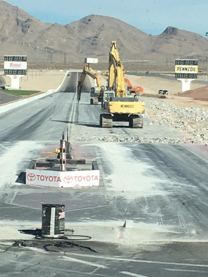 The Strip At Las Vegas Motor Speedway Is Going 4-Wide. Here's The Progress So Far